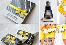 Polka Dots Wedding Inspiration / Polka Dots Wedding Inspiration The polka-dots are fun & the colors are just delicious!