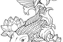 Fish & sea outline