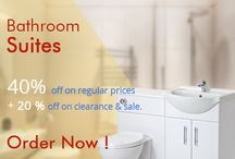 Best offers of sale! / Big sale! Bathroom suites 40% off on regular prices. Call: (0)20 8423 4040 https://goo.gl/FebOHN @olympicbaths