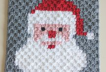 Crochet santa face / Crochet