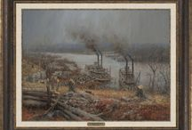 Civil War - Fort Donelson - Andy Thomas / 8 Civil War prints based on Fort Donelson's National Battlefield by artist, Andy Thomas.