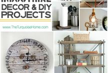DIY General Rustic and Industrial Decor / Do It Yourself General Rustic and Industrial Decor.  Items you can make yourself (or for your husband, ladies).  With items from industrialized pipe design, to rustic weather faded decor, to Steampunk decor, DIY General Rustic and Industrial Decor has everything you need to keep your home up to date on the latest trends with Rustic and Industrial Decor.