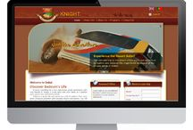 Branding For Knight Tours / Planet Green Solutions Provides Following Services For knight Tours 1) Website Design 2) Complete Branding (Brochure Design, Letterhead, Business Card etc)