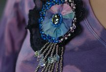 BROOCHES - mixed media, boho, shabby chic