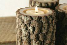 Wooden Candlesticks        木製蝋燭立て