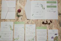 Papeterie / Grünstich - it's just natural. Liebevoll und zeitlos gestaltete Hochzeitspapeterie.