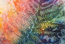 høstblad print