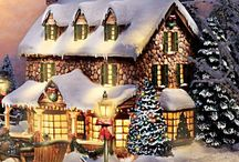 Thomas Kinkade - mostly at Christmas