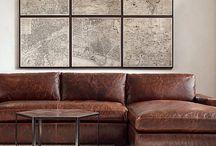 Sofa vintage brown