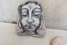 Buddha rock art