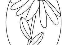 Appliquè: flower pattern