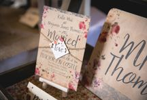 Wedding invitations / Many of these were locally created in Shropshire