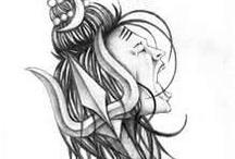 Shiva tattoos design