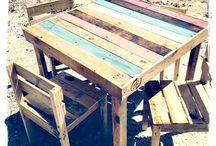 Table jardin palette