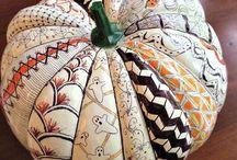 Pumpkins & Succulents