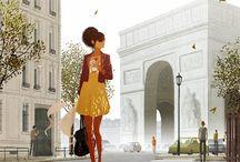 P. Campion & M. Forichon / Illustrazioni carine. Utili per pagina e storie