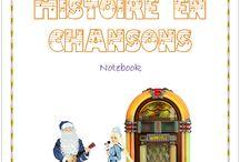 L'Histoire en chansons - Volume 1 / Notebook de l'Histoire en chansons (vol 1) de l'Association Carpe Diem