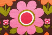 Retro Floral / Retro florals print trend that is here to stay. Big blooms in vintage 70's color palettes for fabric and clothes. From fashion to home furnishings, these flowers are bold, bright and beautiful.