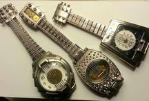 My Watch Part Guitars / Musical instruments made out of watch parts.