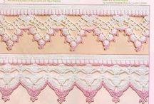 Puntillas y bordes crochet