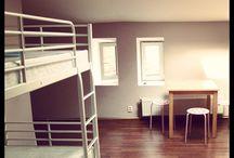 Pokój 6-osobowy/6 bedded room / Pokój 6-osobowy ze wspólną łazienką. 6 bedded room with shared bathroom.