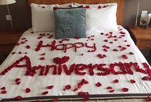 Rose Petal Turndowns / Spoil your loved with with a customised rose petal turndown in your room on arrival