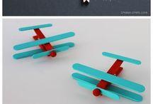 Clothespin aeroplanes