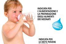 """L'acqua PREALPI e l'alimentazione per i neonati / L'acqua PREALPI ha ottenuto dal Ministero della Salute, l'autorizzazione per inserire in etichetta la dicitura """"indicata per l'alimentazione e la preparazione degli alimenti dei neonati""""."""