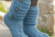 Crafts - Knit Feet / slippers, socks, booties / by Jamie Rhodes