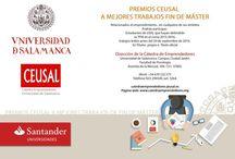 PREMIOS SOBRE EMPRENDIMIENTO  2016 / PREMIOS a mejores trabajos fin de grado, FIn de Master y mejor Tesis Doctoral sobre Emprendimiento