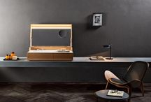 HIDDEN the sink in a box / DESIGN / GIULIO GIANTURCO. Hidden is an intriguing wooden console inspired by the compact form of a trunk suitcase. When opened it reveals a functional beauty area.
