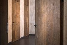 Doors by Di Legno / Images with design doors, made with aged wood.