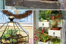 the vintage garden / ideas on how you can create your own private oasis while reusing and up-cycling objects