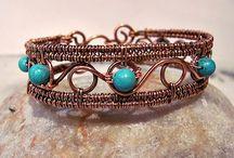 Wire wrap - Bracelets / Проволока  - браслеты / Браслеты из проволоки