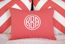 Monograms Monograms / Dozens of styles of monograms and hundreds of different fabrics make the possibilities endless.