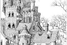 Architektura - omalovánky