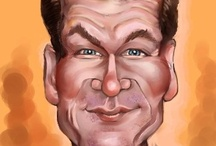 "CARICATURES (Male Actors) / Celebrity ART (personalized) Male Cartoon  Caricatures: Amusing - Witty - Humorous - Weird - Funny - Illustration. If you use the board, please click on the ""Like"" button. Thanks, Ken Dunn - Dunway Enterprises / by Dunway Enterprises"