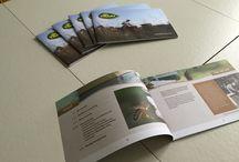 De Traay honingbrochure / Product brochure vormgegeven met biologische honing van de Traay.
