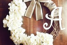 Wreaths/front door decor