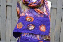 Fashion color purple violet / Moda w kolorze fioletu / Fashion color purple violet / Moda w kolorze fioletu #felted #nunofelted #fashion #designer #modadamska #textile #textileart #wearable #woolscarf #violet #purple #handmade #scarf #hand #rekodzielo #ponchos #wool #Accessories