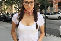 hot ladies wearing glasses