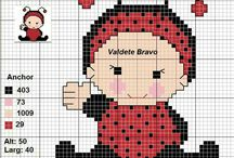 punto croce baby coccinelle 2*