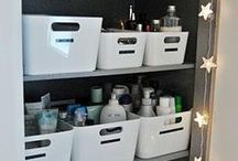 Organize bathroom cupboards