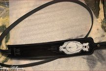 Leather-belts & rifleslings, skärp & gevärsremmar / Handcrafted leather, tooled with artistic impressions (relief), all comissioned work