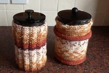 Coffee Cosies / Knitting