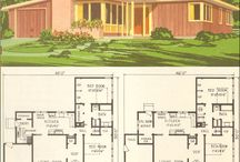 Houses and plans / 50s and 60s style houses, interiors and gardens.