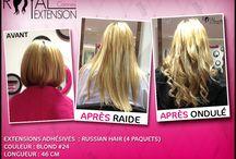 Extensions de Cheveux Avant / Après / Avant et après la pose d'Extensions de Cheveux Royal Extension. www.royalextension.com