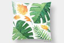~ Pillows ~ Tropical pillows with original designs