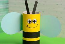Kreativ med toiletpapirruller / En samling sjove dyr, figurer mv., som man sammen med børn, kan lave af tomme toiletpapriruller.