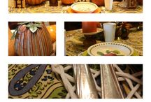 Fall tablescapes and decor